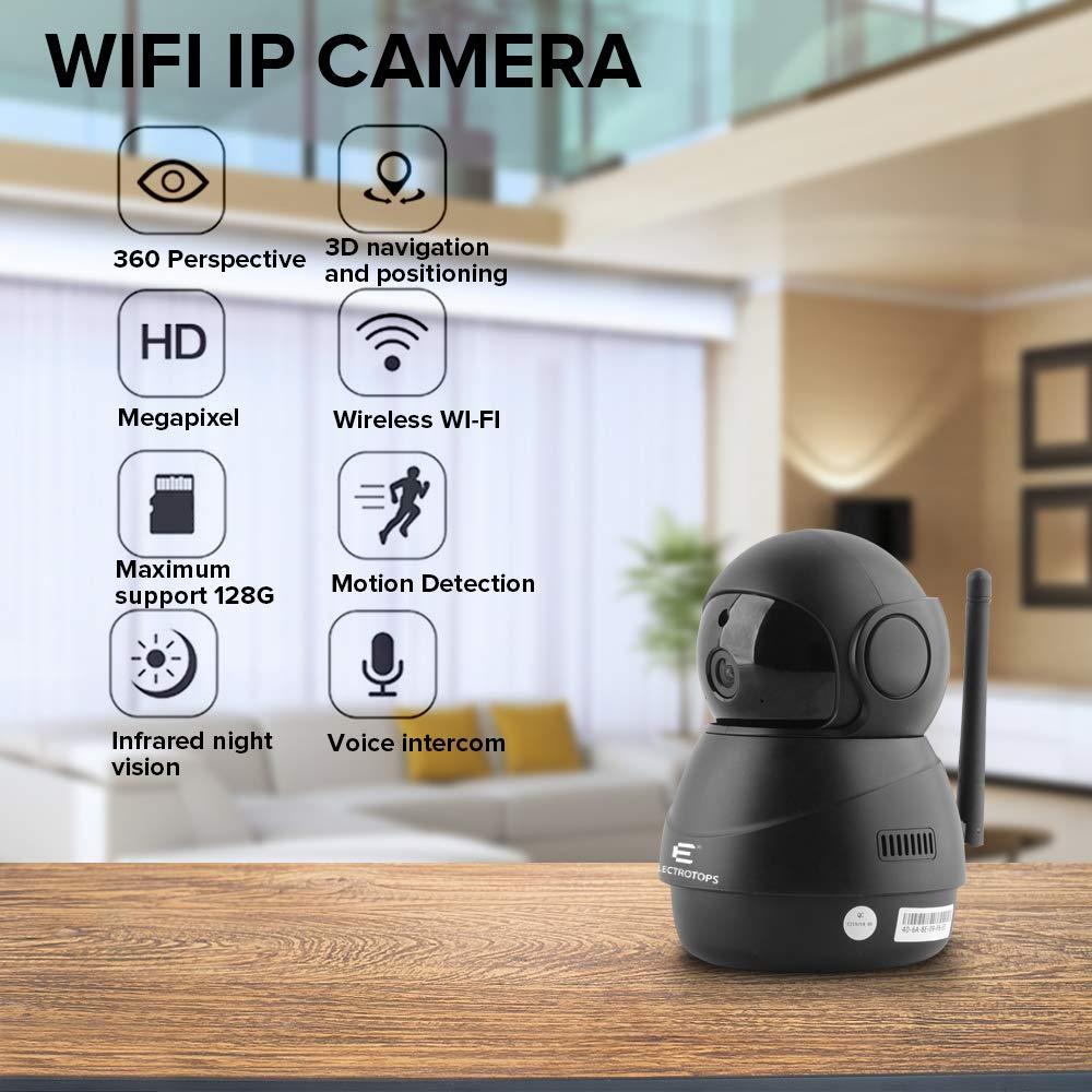 C/ámara IP WiFi 1080P C/ámara de Vigilancia FHD Seguridad de Casa con Visi/ón Nocturna,Detecci/ón de Movimiento,Audio de 2 V/ías Compatible con iOS//Android,Apoyo D/ía Noche 360 Pa C/ámara IP 2.4GHz WiFi