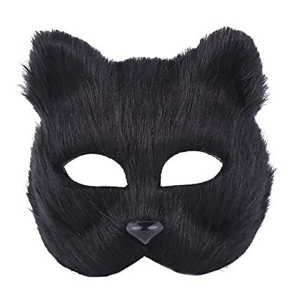Amazon.com: Funpa Plastic Costume Mask Half Face Fox Head Party Mask ...