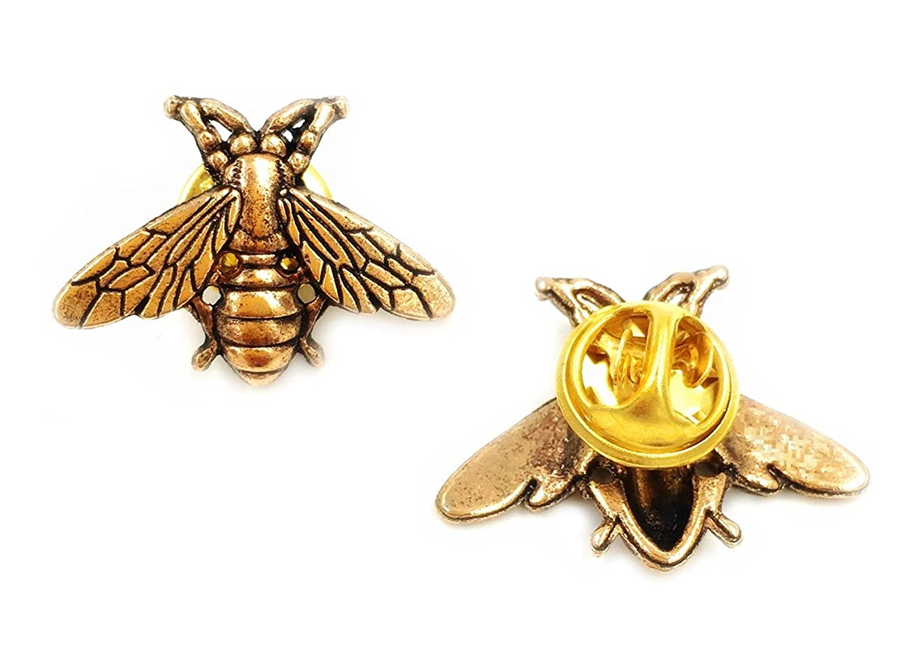Amazon.com: Odette Vintage male metal bees shirt brooch novelty suit ...