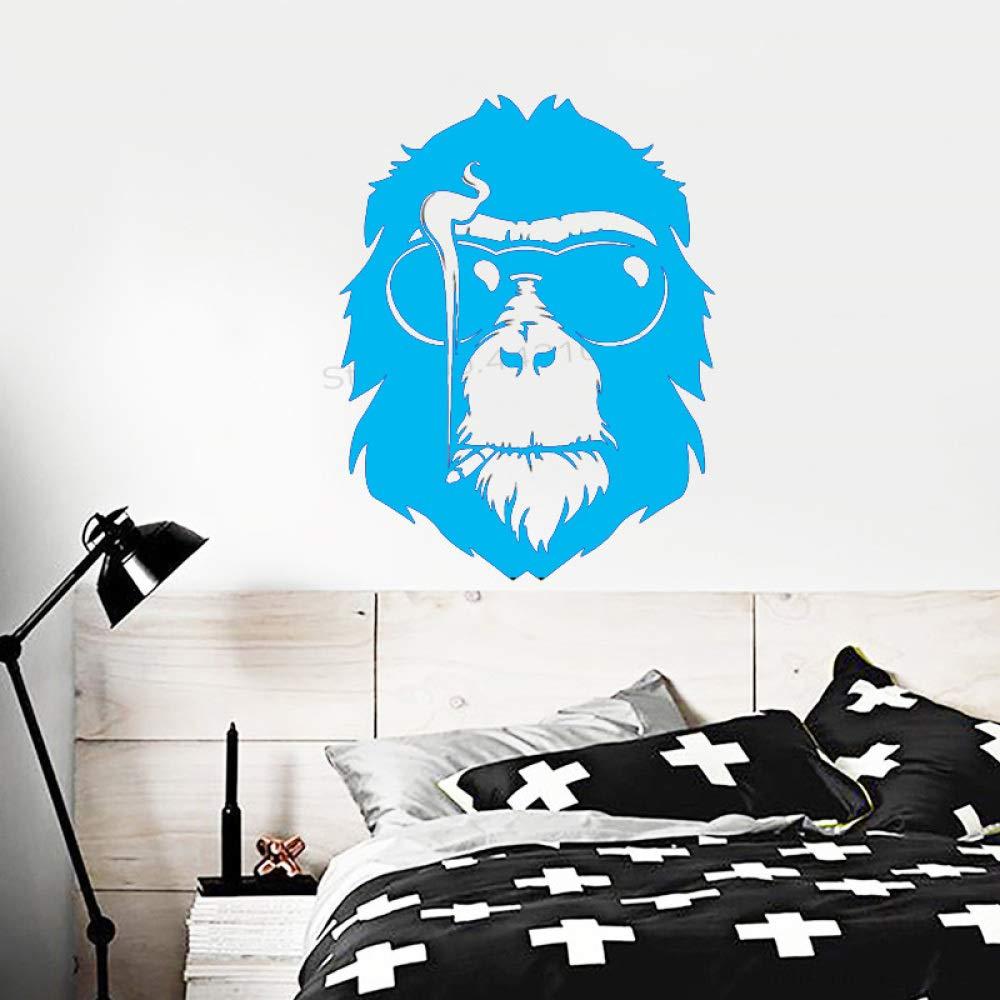 xingbuxin Tatuajes de Pared Gafas de Sol Creativas Monkey Head ...