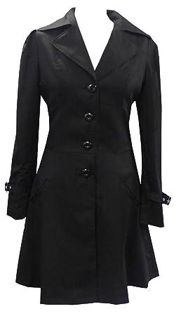 Noir (Cotton Riding Jacket) Un Manteau  Longue Veste avec Corset Taille 36 368c146d045