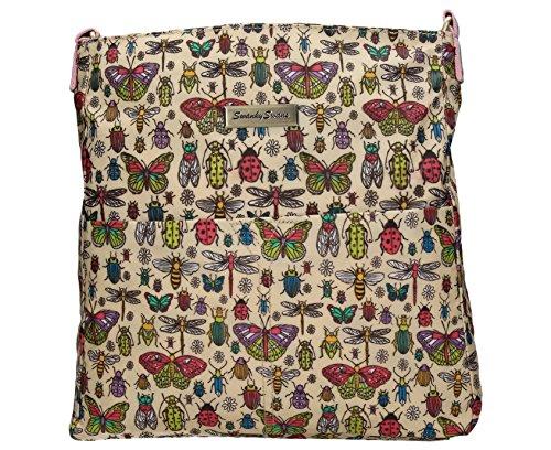 Borella Butterfly and Bugs Sommerliche Umhängetasche