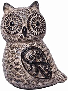 Hosley 6 Inch High, Decorative Tabletop Owl. Ideal Gift for Wedding, Home, Party Favor, Spa, Reiki, Meditation, Bathroom Settings P1