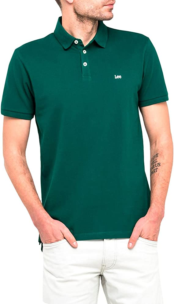 Lee Polo L62XRLEB Plain Pique Polo Evergreen XL Verde ...