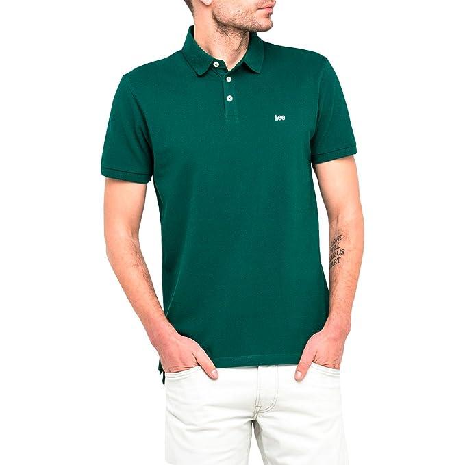 Lee Polo L62XRLEB Plain Pique Polo Evergreen XL Verde: Amazon.es ...