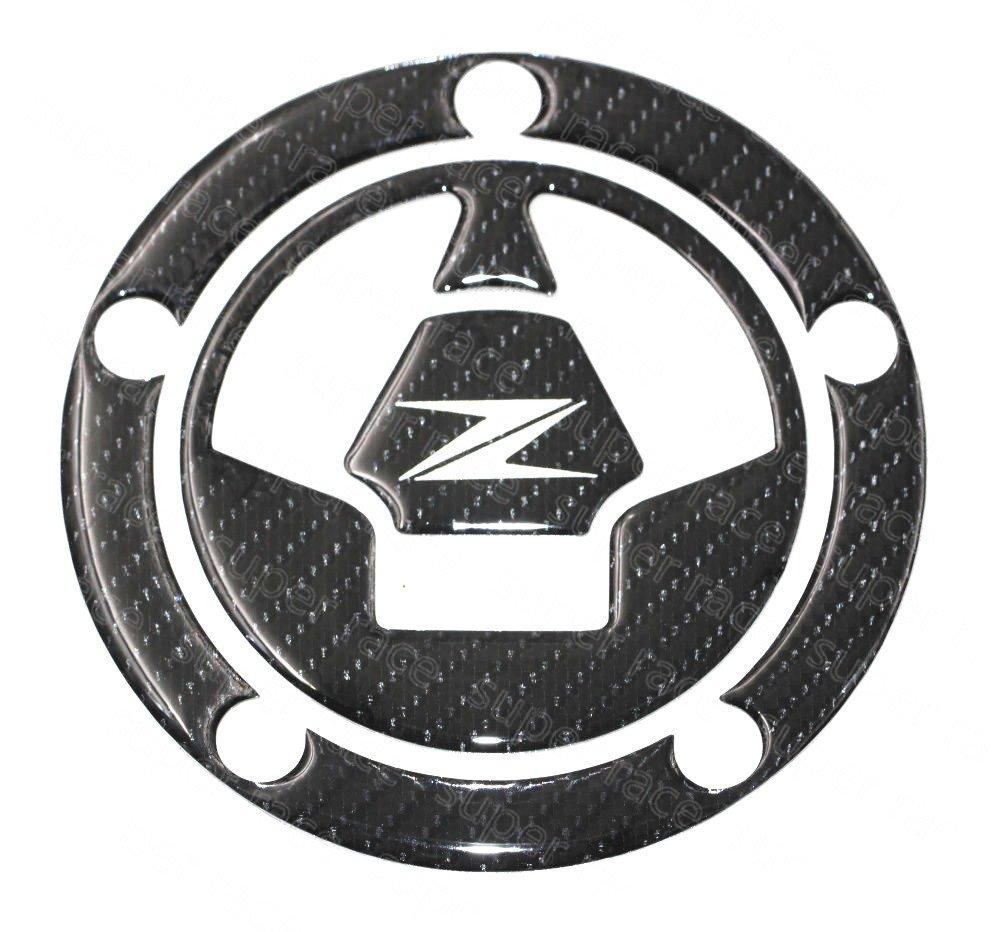 Decal Story 3D Real Carbon Fiber Emblem Gas Cap Cover Sticker Decal Raise Up Polish Gloss for Kawasaki Ninja ZX-6R / ZX636 2006-2016 ZX-14 2006-2011 ...