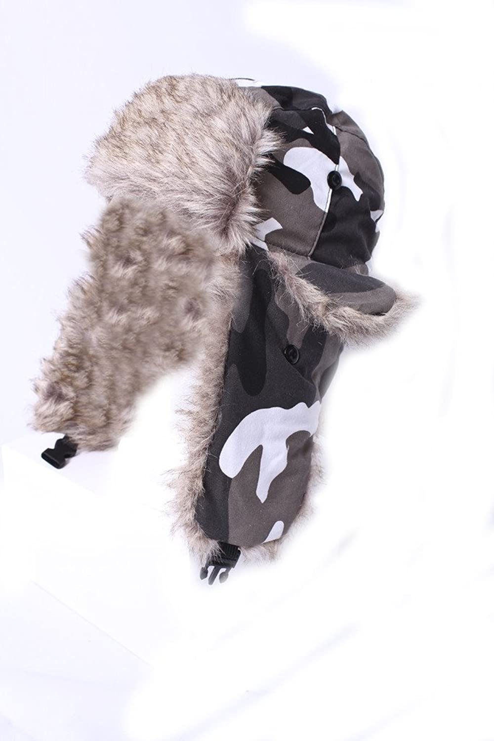 IMTD schwarz Freitag Weihnachts Verkauf Herren Camouflage Dusche Proof Jagd Wandern Angeln Trapper Fake Fell Ski Hat