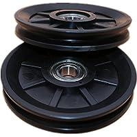 2 Stukken Gym Katrolwiel, Slijtvast Katrol Wiel Zwart, voor Kabel Machine Fitnessapparatuur Reserveonderdeel, Oefening…