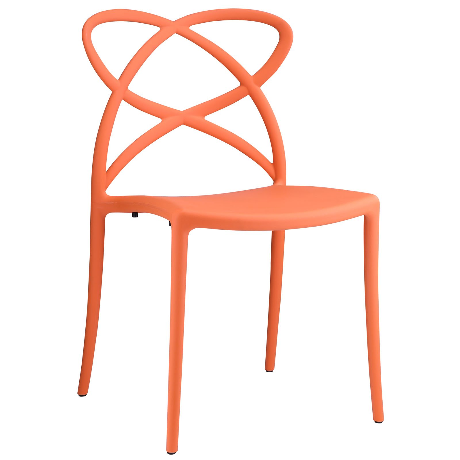 Modway Enact Dining Side Chair, Orange