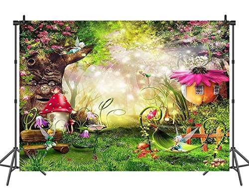 Sensfun Fantasy Forest Photo Background Kids Children Birthday Party Decoration Photography Backdrops Fairytale Baby Studio Props 7ftx5ft