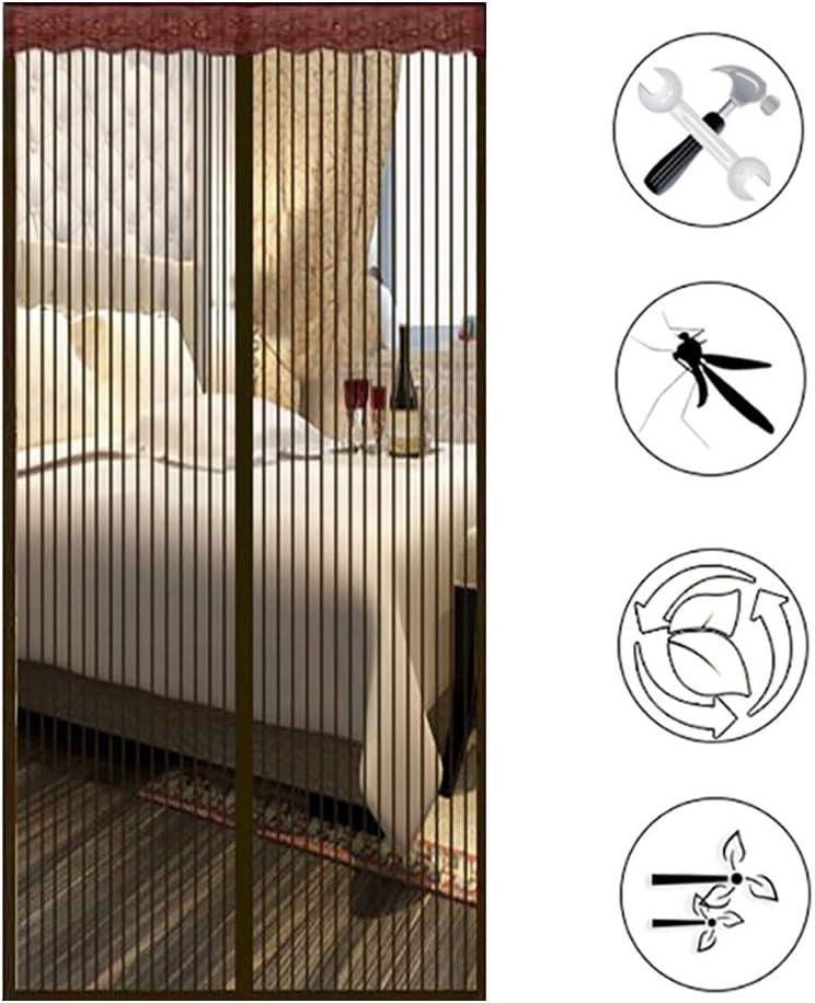 Facile /à Installer,Brown,120x225cm Super/Calme Aimant/éE/Fenetre dEntr/ée HANING Rideau/Magn/éTique/Moustiquaire De/Portes Anti Insectes P/êChe/Bateau Mains/Libres Coulissantes Garage
