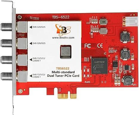 tbs6522 Multi estándar doble sintonizador PCI-E TV sintonizador DVB-S/DVB-T/DVB-C (satélite, terrestre, cable) Full HD 1080p y SD: Amazon.es: Informática