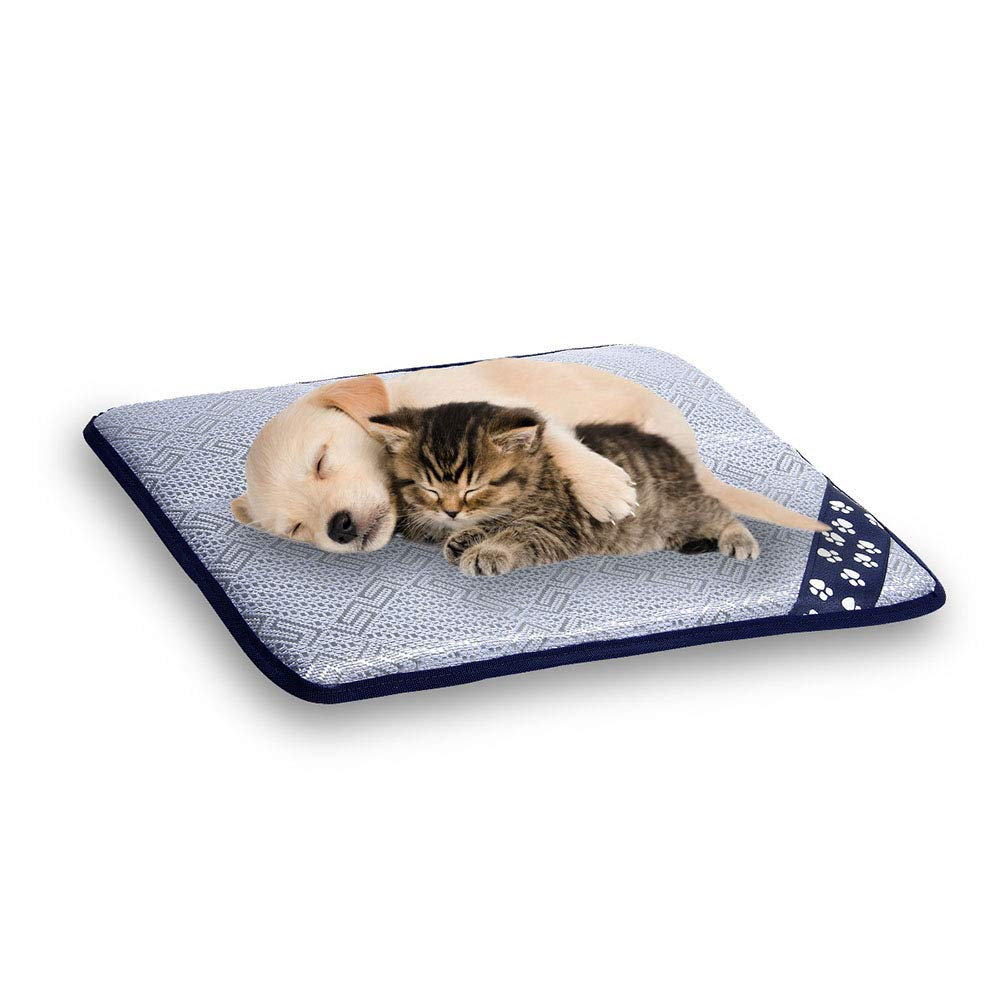 5070cm Portable Cool Pet Mat Made of Ice Silk and Sponge Pad for Dogs and Cat in Summer,50  70cm
