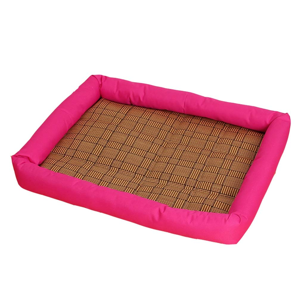 Pink 60x51cm Pink 60x51cm ZWYGXL Kennel Summer Small Medium Dog Not Easy to Dirty Pet Bed Supplies Cat Supplies (color   Pink, Size   60x51cm)