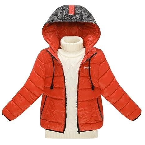 Moin Unisex abrigo cálidos niños capa chaqueta de pluma de la moda para niñas chaqueta de