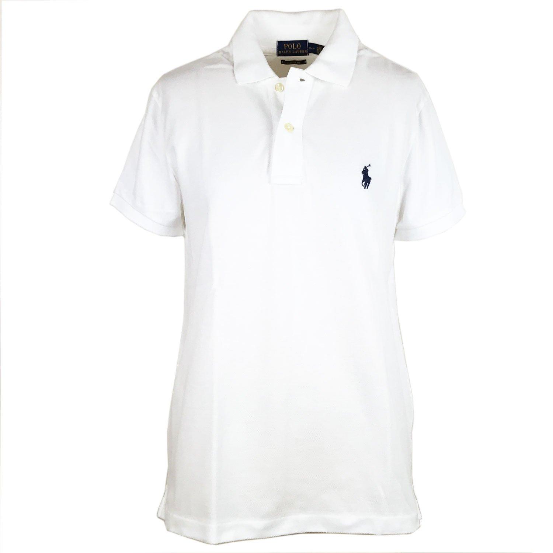 (ラルフローレン) POLO RALPH LAUREN ポニーワンポイント刺繍 クラシックフィット ポロシャツ [並行輸入品] B01IGNZVDI L ホワイト/ネイビー ホワイト/ネイビー L