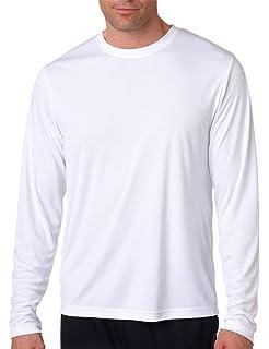 61186dbc9ae Hanes Men s Long Sleeve Cool Dri T-Shirt UPF 50+ (Pack of 2) at ...