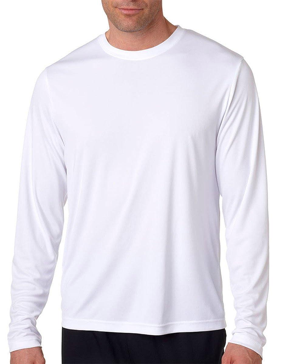 Hanes Camiseta Cool Dri manga larga para hombre UPF 50+, Mediana, 2 Pack, 1 Negra / 1 Blanca 482L