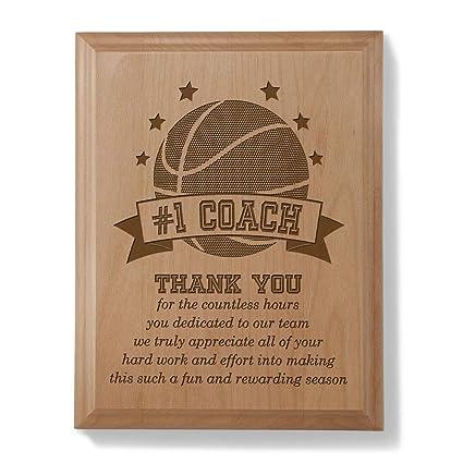 amazon com kate posh 1 basketball coach plaque and award home