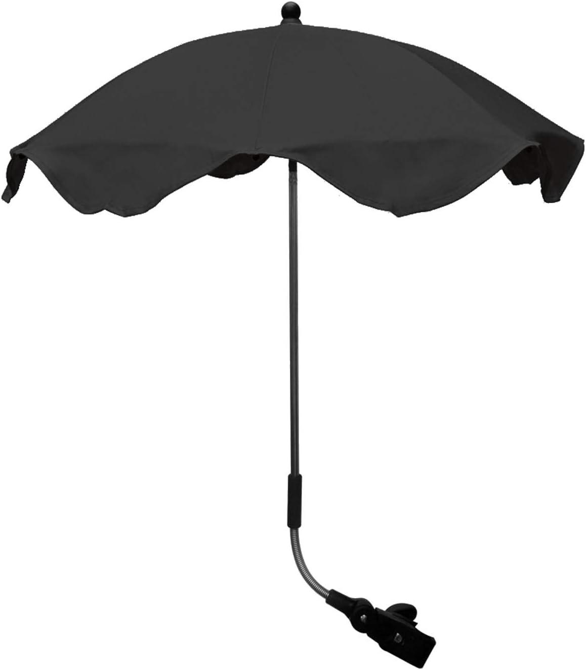 Universal Stroller Pram Parasol Umbrella Canopy Triple Adjust Fully Universal (Black) (to Fit  sc 1 st  Amazon UK & Baby: Parasols u0026 Sun Covers