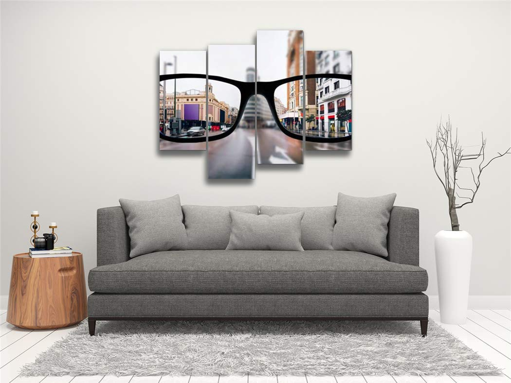 Amazon.com: Myopia in Madrid Canvas Wall Art Hanging ...