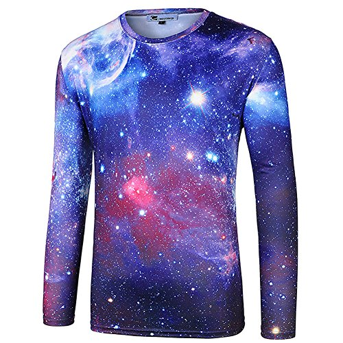 - cornflower Men's 3D Printed Long Sleeves T-Shirt Casual Tee Bright Star XL