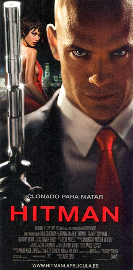 Amazon Com Hitman Movie Poster 14 X 36 Inches 36cm X 92cm