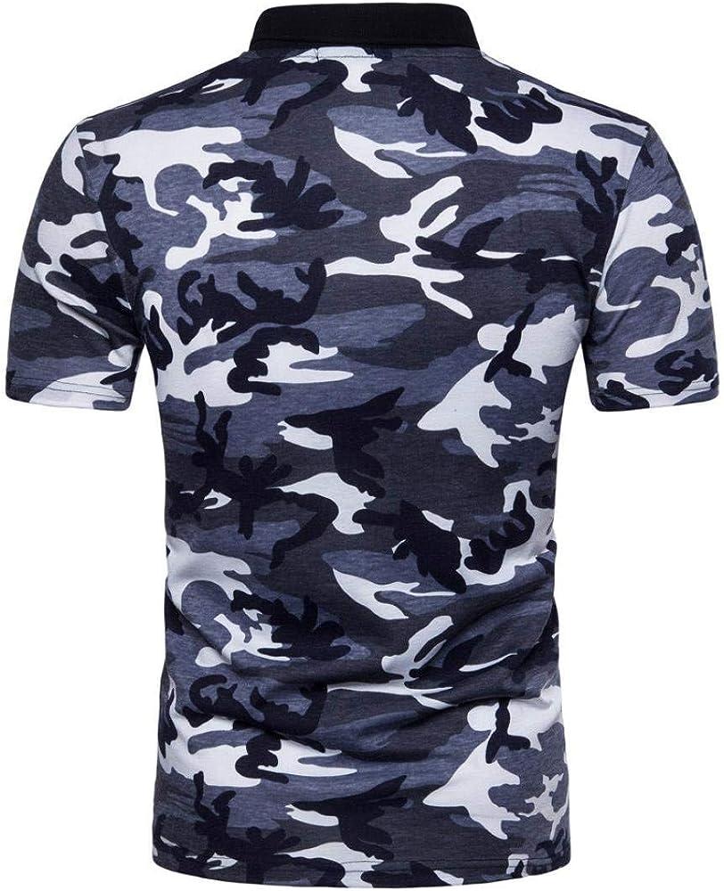 Polo Camisa De Polo De Camuflaje Camuflaje para Verano De Camisa ...