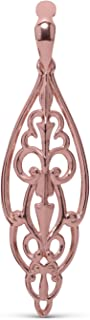 product image for Carolyn Pollack Sterling Silver, Rose & Yellow Gold Plated Open Work Filigree Pendant Enhancer