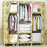 Generic New Super Large Family Waterproof Moistureproof Wardrobe Reinforced Bold Wooden Closet Oxford Cloth Fully-enclosed Armoire
