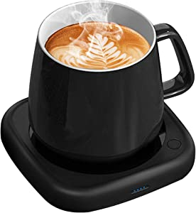 Coffee Mug Warmer Tea Cup Warmer Coffee Gifts for Desk Office Home Use, 8 Hrs Auto Shut-Off & 2 Temp Settings, Smart Plate Warmer for Coffee, Tea, Beverage, Milk, Hot Chocolate, Best Gift Idea(No Cup)