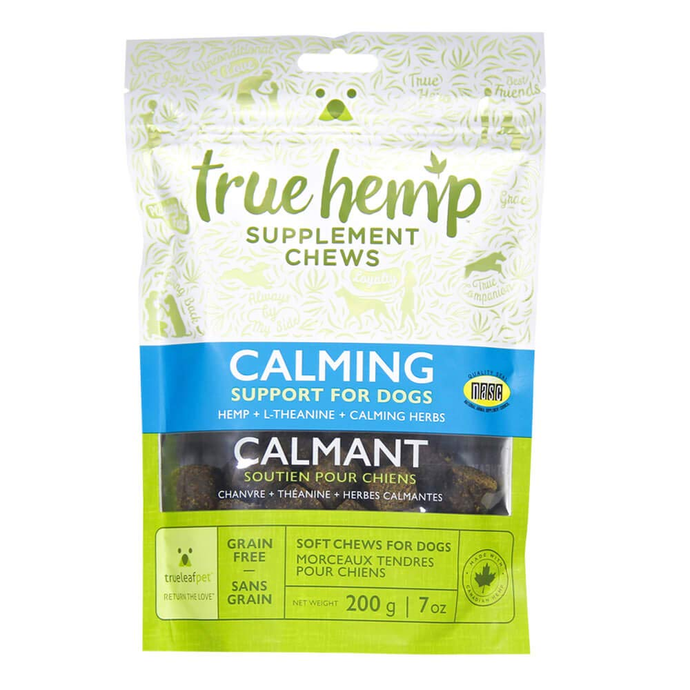 TrueLeafPet Supplement Chews | Calming Herbs Support for Dog | Net Weight 200 g – 7 Oz