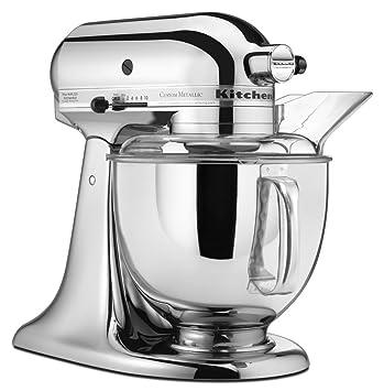 kitchenaid mixer metallic chrome. kitchenaid ksm152pscr 5-qt. custom metallic series with pouring shield - chrome kitchenaid mixer c