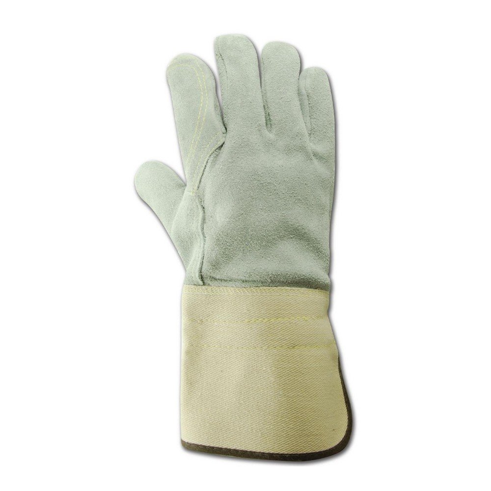 Magid Glove & Safety T374DPG-SP-XL Top Gunn Full Leather Double Palm Gloves with Gauntlet Cuff and Spectra Lining, XL, Off White (Pack of 12) by Magid Glove & Safety