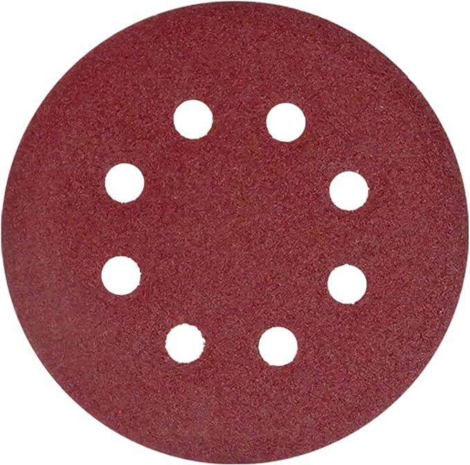 Lot de 5 disques abrasifs P120 200 mm avec adh/ésif pour /étag/ère PSA dos adh/ésif grain P120 8 pouces en zirconium