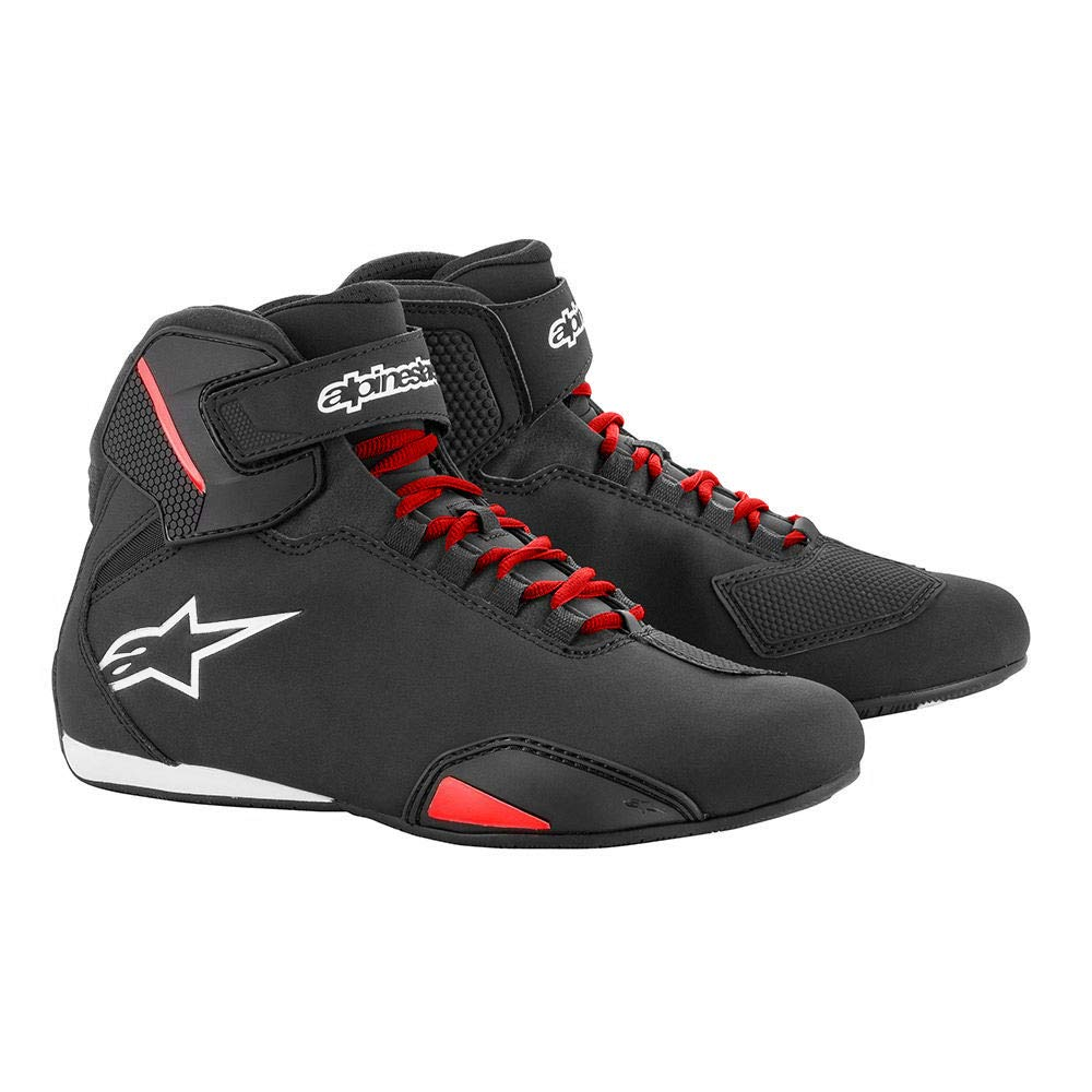 10,5 Alpinestars Schuhe Sektor schwarz-rot