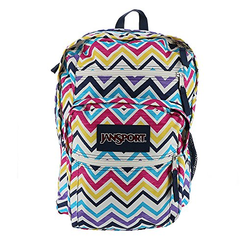 JanSport Unisex Big Student Multi Saucy Chevron Backpack