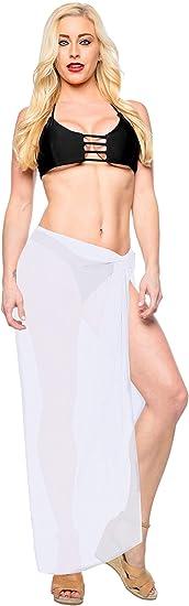 LA LEELA Vestido de la Playa del Traje de baño de Las Mujeres Falda de Tubo Halter Maxi
