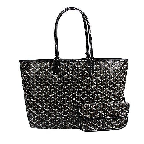 Women high quality shoulder shopping bags medium handbags (Black) - 6
