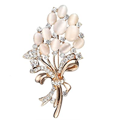 13d18e92e40 Amazon.com: Daisy Jewelry Womens Elegant Flower Floral Bridal Wedding  Bouquet Brooches Brooch Pins Sale: Jewelry