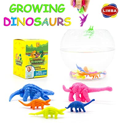 LIMBA Water Growing Dinosaurs (32 PC Set) - Expanding Foam Animals - Water Growing Toys for Kids – Best Grow Water Toys Expanding Water Animals – Expand 600% in Water: Toys & Games