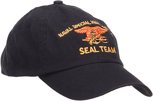 E4hats Naval Warfare Seal Team Military Embroidered Low Profile Cap ... 2406022c64e