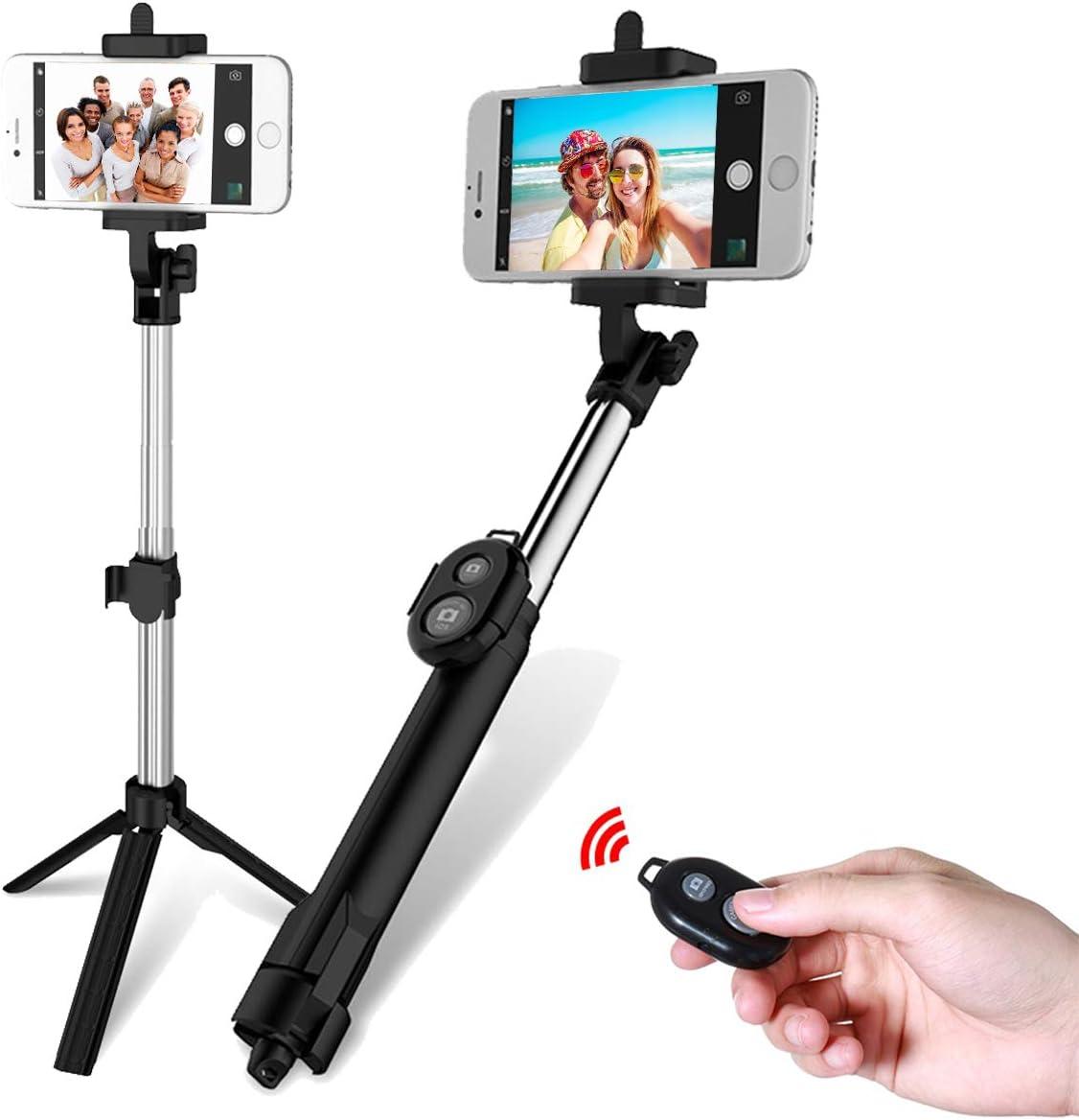 OhhGo Selfie Stick Tr/ípode Monopod Extensible Bluetooth Obturador Remoto Selfie Stick para Tel/éfono M/óvil