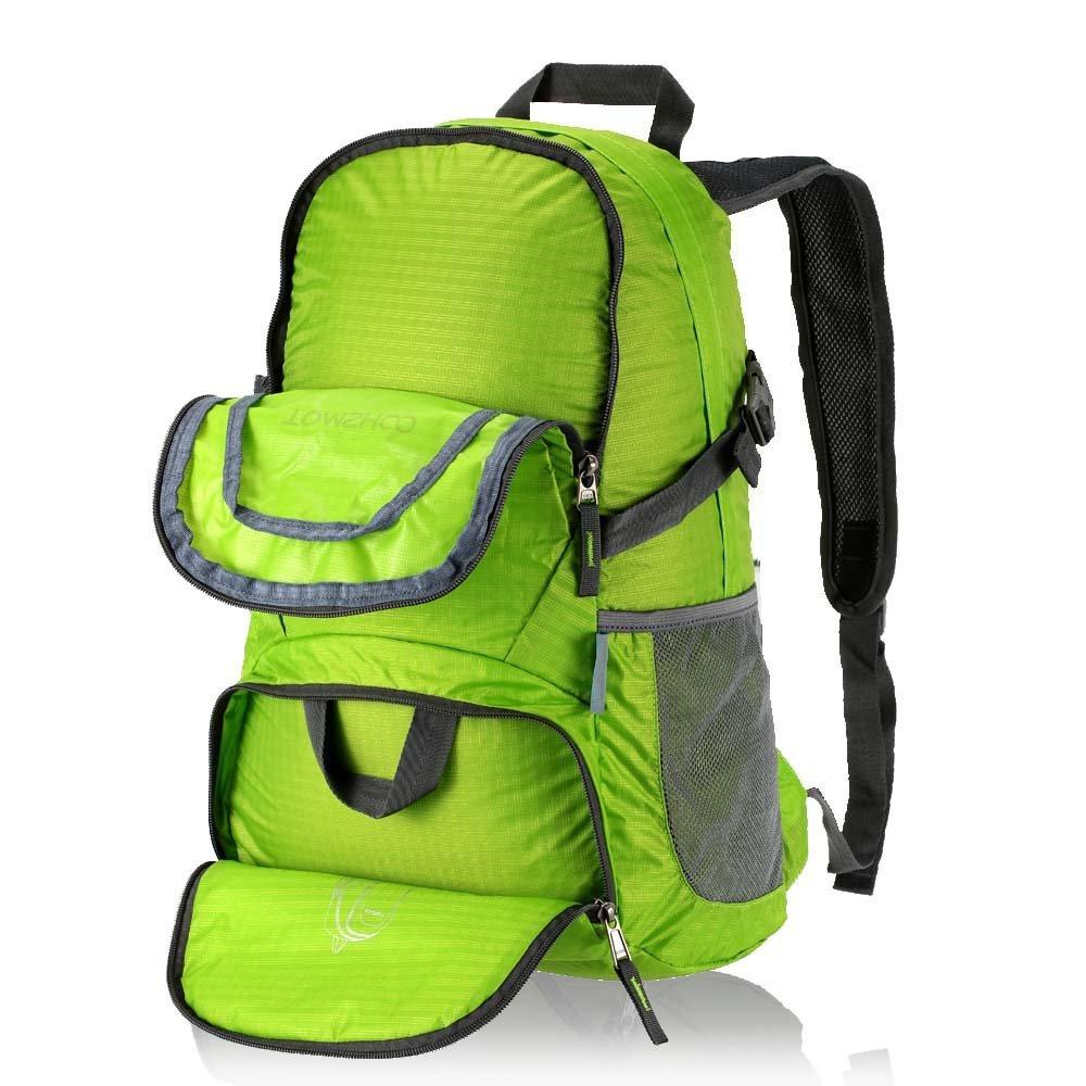 Green  TOMSHOO 30L Backpack Foldable Packable Ultra Lightweight Tear    Waterproof Water-Resistant Nylon Handy Backpack Travel Trekking Bag Hiking  Dayback ... 78db6e8123fed