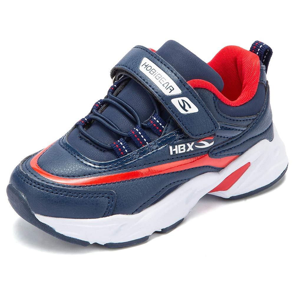 KIIU Boys Running Shoes Lightweight Tennis Shoes for Girls Kids Sport Athletic Sneakers (Navy 1.5, Little Kid)