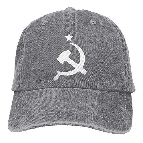 (HATS NEW Denim Baseball Cap Russian CCCP Hammer Unisex Baseball Cap Adjustable Baseball Cap)