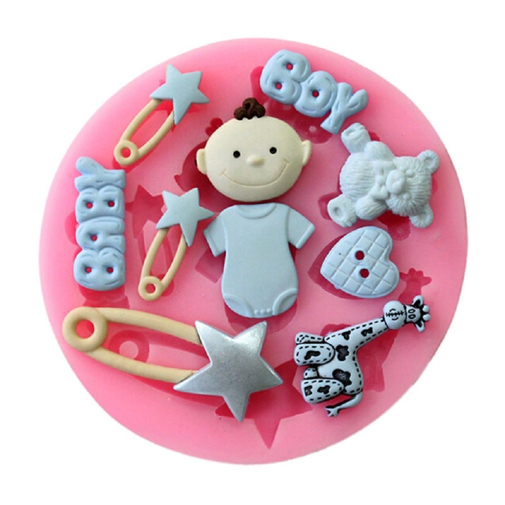 LALANG Baby Shower Fondant Mold Silicone Sugar Craft Molds
