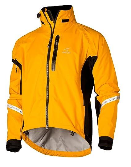 Duchas Pass de Hombre Elite 2.1 Resistente al Agua Ciclismo Chaqueta, Hombre, Goldenrod