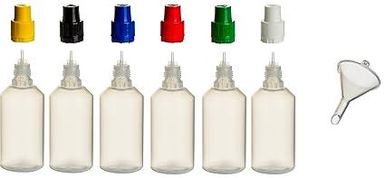 PP de botellas incl. Relleno de embudo – Botella vacía plástico lengüeta Botella de plástico
