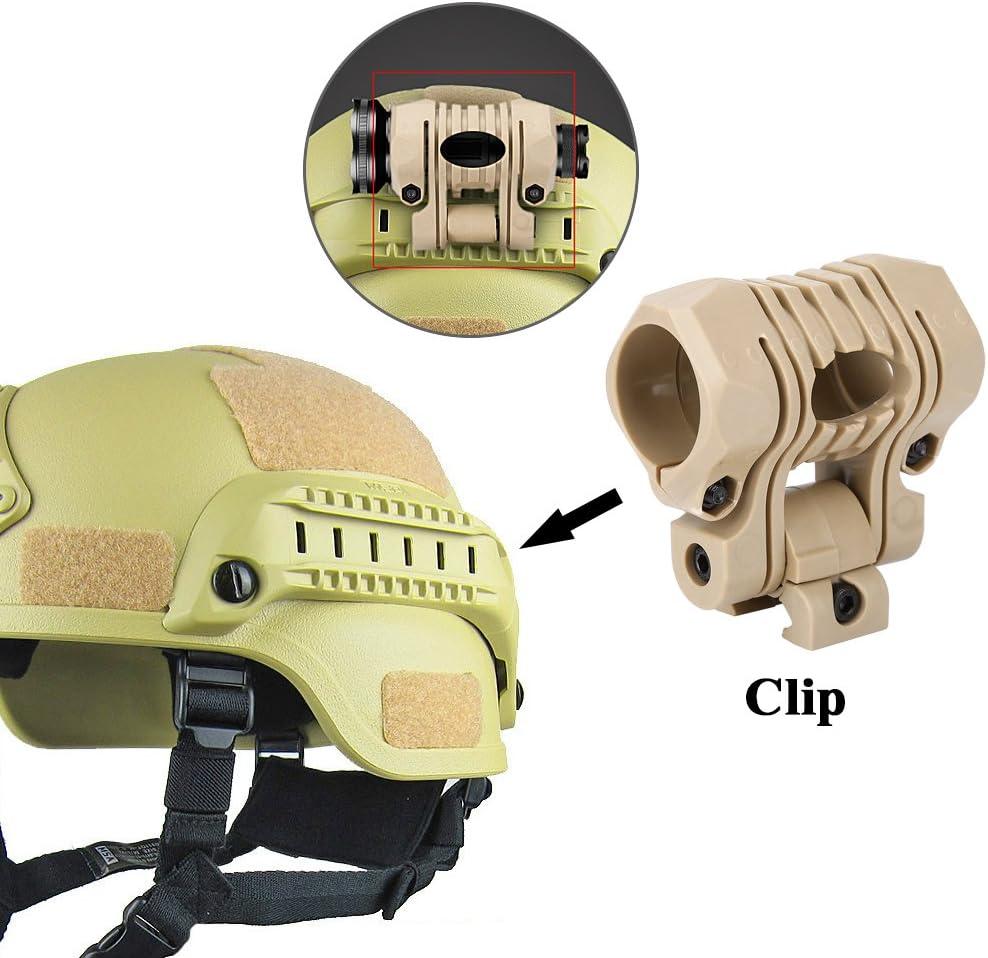 Tbest Helmet Flashlight Holder Mount Tactical Helmet Accessories Plastic 1 Tactical Airsoft Quick Release Quick Release Flashlight Holder Clamp Clip Mount Accessory for Fast Helmet